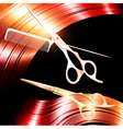 Hair and cutting scissors vector image vector image
