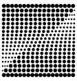 Halftone design elements square vector image vector image