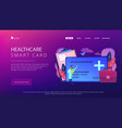 healthcare smart card concept vector image vector image