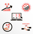 Icons of different bonuses of commerce vector image vector image