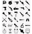 Icons of tools and devices vector image vector image