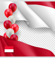 indonesian patriotic template with copy space vector image vector image