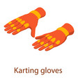 karting gloves icon isometric 3d style vector image vector image