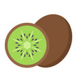 kiwi flat icon fruit and diet graphics vector image vector image