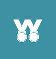 letter w award logo vector image