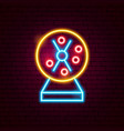 loto machine neon sign vector image vector image