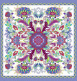 lovely tablecloth ethnic indian flowers beautiful vector image vector image