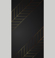 luxury black background banner with gold strip vector image vector image