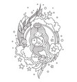 mermaid with beautiful long hair sitting on a vector image vector image