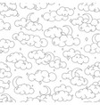 night sky seamless pattern with clouds stars moon vector image vector image