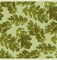 oak leaves in seamless pattern vector image vector image