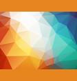 orange blue polygon background ice fire vector image
