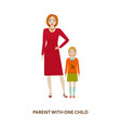 parent with one child cartoon vector image