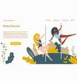 pole dance girls web template cartoon vector image