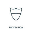 protection thin line icon creative simple design vector image