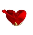 Red rose in the shape of heart EPS 10 vector image vector image