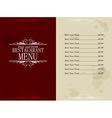 restaurant food and drink menu vector image vector image