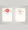 Retro beautiful flower invitation banners vector image vector image