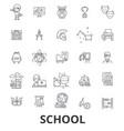 school school building education classroom vector image vector image