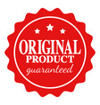 seal icon of original product guaranteed vector image