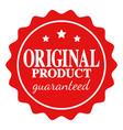 seal icon original product guaranteed vector image