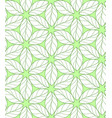 seamless repeating linear leaves pattern on green vector image vector image
