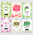 set mobile spring sale banners vector image vector image