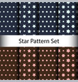 set star seamless pattern background vector image vector image