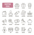 shopping icons set of pictogram for web graphics vector image vector image