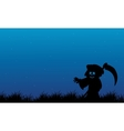 Silhouette of warlock Halloween with blue vector image vector image
