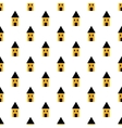 Simple yellow and black houses seamless pattern