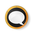 speech bubble symbol in golden orange frame vector image
