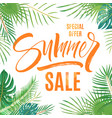 summer sale lettering vector image