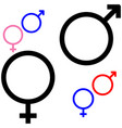 symbol of gender symbol mars and venus vector image vector image