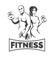 Training Bodybuilders Fitness Emblem vector image vector image