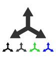 triple arrows flat icon vector image vector image