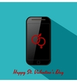 Valentines background in flat design style vector image vector image