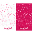 valentines day card design set heart confetti vector image