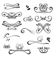 vintage calligraphic design elements set of vector image