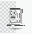 wire framing web layout development line icon on vector image
