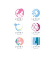 women logo set vector image