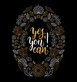 Yes you can hand lettering poster