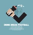 Drink Break Football vector image