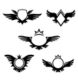 Wings shaped emblems vector image