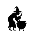 Witch silhouette vector image