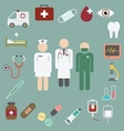 doctor and nurse team with medical and healthcare vector image