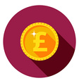 gold coin The flat style vector image