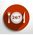 24 hour delivery food service vector image