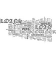 a brief look at homeowner loans text word cloud vector image vector image