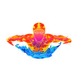 abstract of a swimmer butterfly from splash of vector image vector image